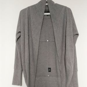 Seductions   Open Front Dropped Shoulders Cardigan